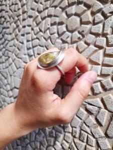 Anillo cuarzo rutilado y plata 925