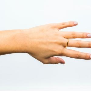 Anillo de plata para mujer TRI dorado