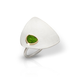 Anillo Scoop de plata y oro Fairmined