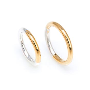 Anillos de boda de plata 925 y oro amarillo 18kts