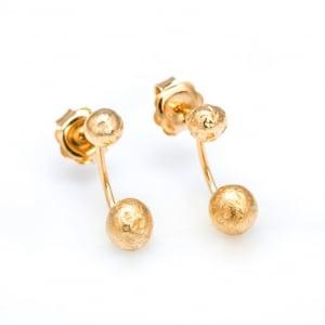 Pendientes de oro amarillo, joya artesanal de Juia Jewels
