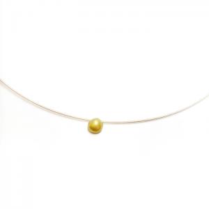 Collar artesanal de oro justo Fairmined Ígnea