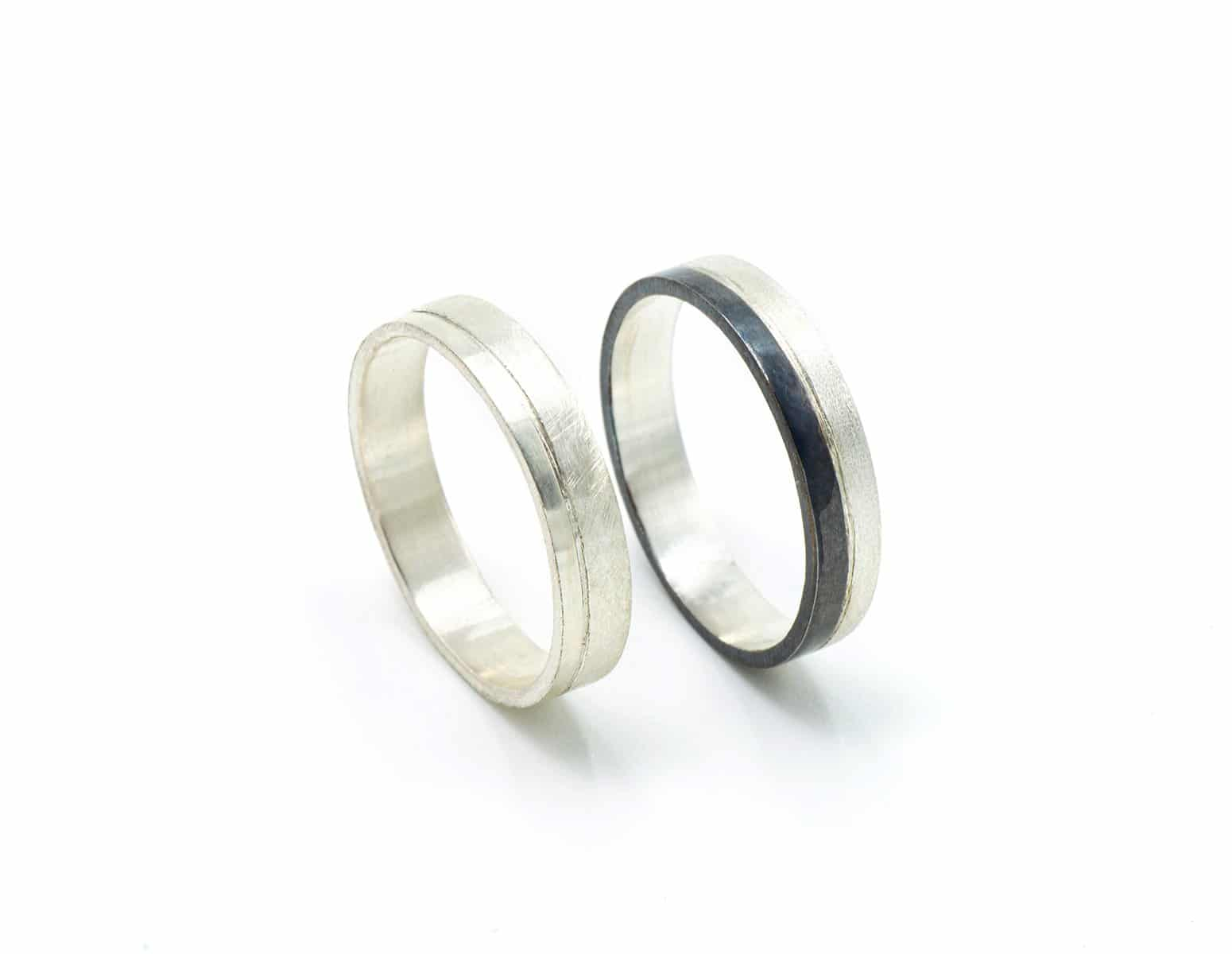 Alainzas de boda con rodio negro