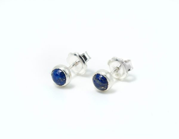Pendientes de plata con gemas trazables lapislázuli