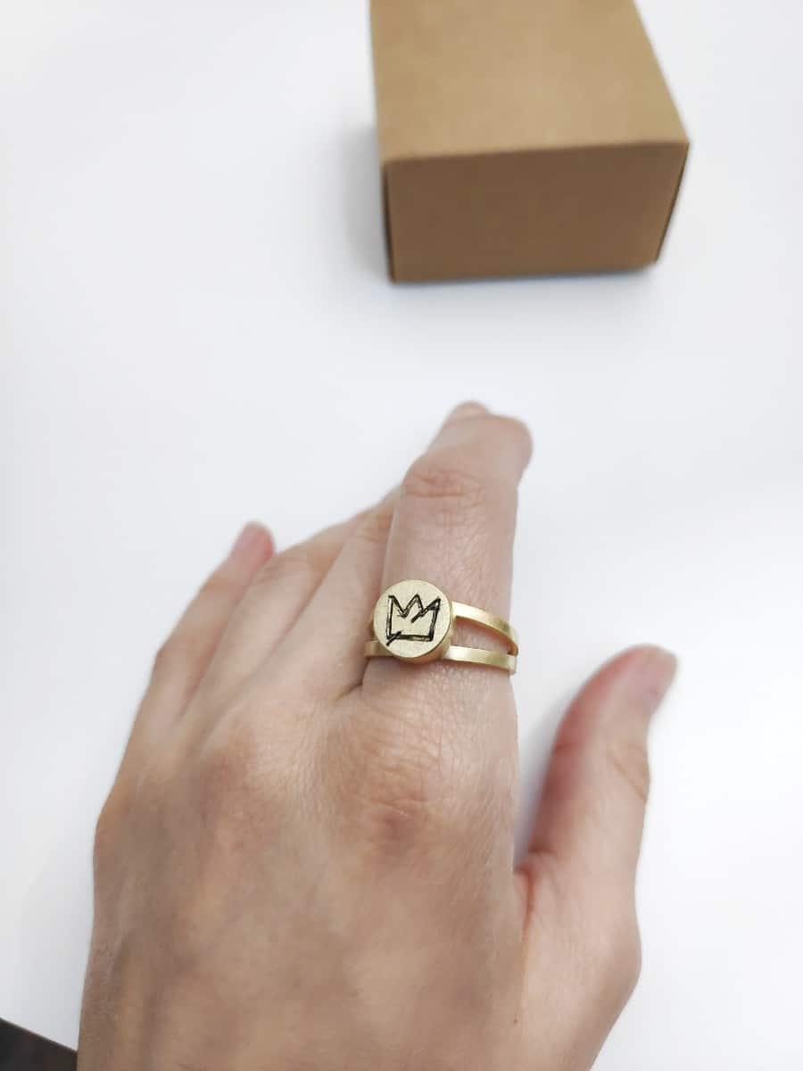 Anillo personalizado de oro justo Fairmined