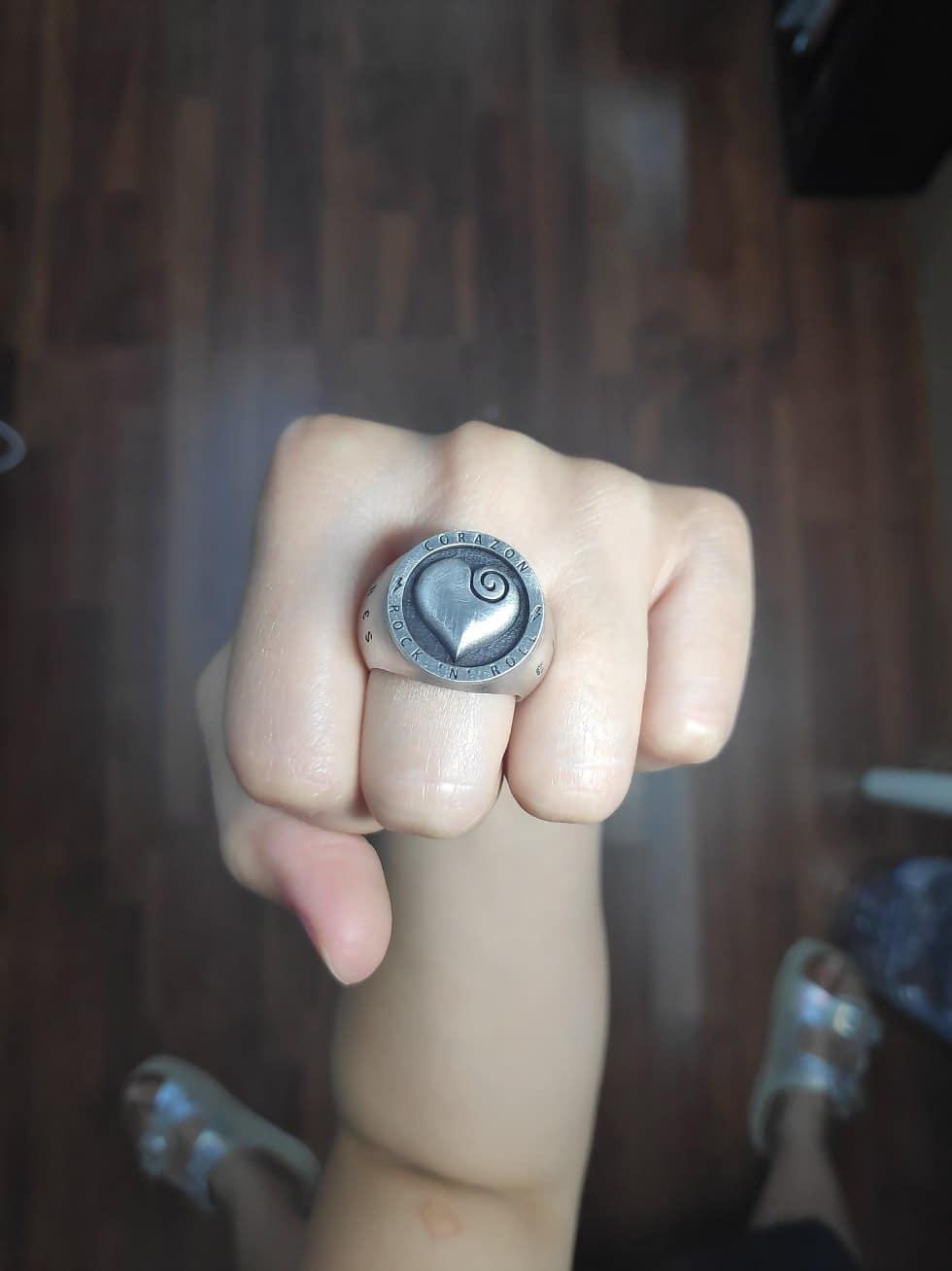 Sello personalizado en plata